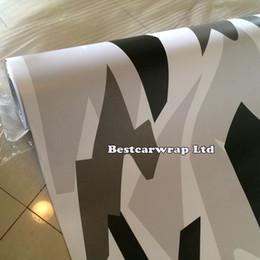 $enCountryForm.capitalKeyWord NZ - Matte & Glossy Arctic Camo Vinyl Wrap Film Car Wrap Winter Snow Camouflage Sticker Unique Wrapping Air Release Car Sticker 1.52 x 30m Roll