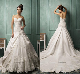 Discount Wedding Dress Dropped Waist Cathedral Train 2017 Spring Wedding  Dress Collection Illusion A Line Sweetheart