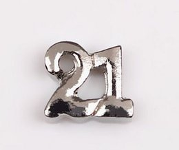 $enCountryForm.capitalKeyWord UK - 20PCS lot Silver Twenty One 21 Celebrate Birthday Number Charms Fit For Glass Living Floating Locket