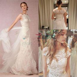 $enCountryForm.capitalKeyWord Canada - Lorelei Gown Vintage Boho Country Wedding Dresses 2017 A-line Modest Off the Shoulder Bohemian Beach Bridal Cheap Lace Tulle Dress bhldn