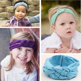 Baby Hair Headbands NZ - New Baby Girls Hair Braided With Children Safely Cross Knot Hair Accessories Headbands 0257