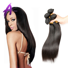 Malaysian Straight Hair 22 Inches Canada - 6A unprocessed malaysian hair human hair weave straight malaysian virgin hair straight 3pcs per lot Best malaysian straight hair