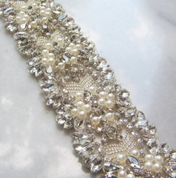 crystal pearl belt accessories 2019 - Gorgeous Bridal Sashes Rhinestones Pearls Crystals Stitches Sparkling Wedding Belts Bridal Accessories Customized discou