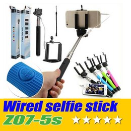 $enCountryForm.capitalKeyWord Canada - DHL 20PCS Lot Wired Monopod Z07-5S Portable Cable Extendable Selfie Stick tripod Pole Handheld Monopod For Iphone IOS Samsung
