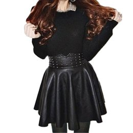 Discount Mini Skirt Black Leather Korean | 2017 Mini Skirt Black ...