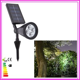 wholesale4 led solar powered light lamp for outdoor landscape garden driveway pathway yard lawn decorative lightingno wiring required solar powered lawn
