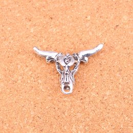 fit bull 2018 - 34pcs Charms bull head,Antique Making pendant fit,Vintage Tibetan Silver,jewelry DIY bracelet necklace 36*22mm cheap fit