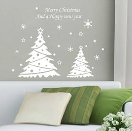 $enCountryForm.capitalKeyWord Canada - 2015 fashion white red choose Merry Christmas Happy new year snowflakes trees 58*41cm living room home Wall Sticker Decor
