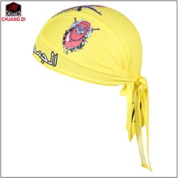 Pirate Scarf Hat NZ - Hot yellow Women Men Bike Hat Ciclismo Cycling Helmet Cap Bicycle Head Scarf MTB Racing Pirate Scarf Headband Headwear