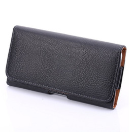 Leather Belt Holster Case Canada - Universal Horizontal Man's PU Leather Holster cellphone Pouch Case with Belt Clip for iphone 6s plus and more other cellphone