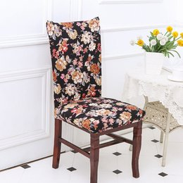 Hot 11 Colors Fashion Printed Stretch Banquet Slipcovers Dining Room Wedding Party Chair Covers Seat Cover