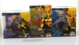 Free Goku Figures Australia - Free Shipping Set 3 pcs Dragon Ball Z SUPER SAIYAN GOKU Son Gokou + Vegeta + Trunks Battle Ver. PVC Action Figure Model Collection