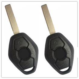 Keys Chip Shell Australia - 2Pcs New Remote Keyless Uncut 3 Buttons Car Key Shell Case Fob For BMW X3 X5 Z3 Z4 325i 525i 330i Fob With LX8 FZV No Chip