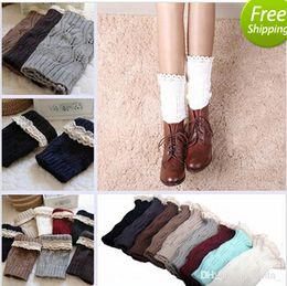 tight girls legs 2019 - Fashion socks Women Girl Leg Warmers Hosiery Stockings Crochet Knit button white Lace trim Boots socks Cuff Leggings Tig