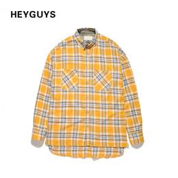 ac5a26c624e HEYGUYS 2017 HIP hop camisas llano amarillo moda desgaste de la calle  camisas de hip hop hombre venta caliente de gran tamaño con cremallera  comprobado dios ...