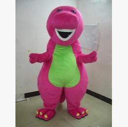 post cartoons Australia - Send China post SAL High quality Big style Profession Barney Dinosaur Mascot Costumes Halloween Cartoon Adult Size Fancy Dress