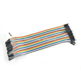arduino dupont wire 2018 - 40pcs in Row Dupont Cable to Male Dupont Cable Line 20 cm 2.54mm 1pin 1p-1p jumper wire for Arduino free shipping FZ0036