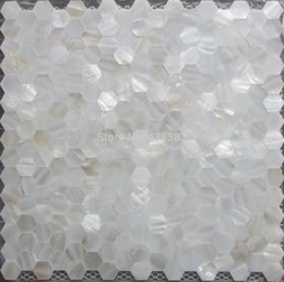 white pearl mesh Canada - Mother of pearl tile hexagon seamless on mesh 20MM;shell mosaic tile bathroom washroom wall tile; kitchen backsplash tile
