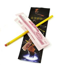 Magic Tricks Money Canada - Pencil Penetrating Bill Magic, Classic Pencil Thru Money Bill tricks Wholesale Free shipping incredible penetration Magic Toy