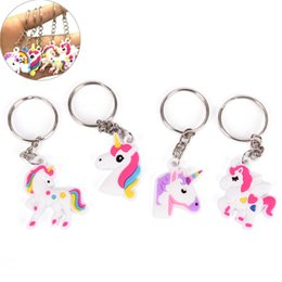 Toy horse accessories online shopping - hot sale Unicorn Keychain Keyring Cellphone Charms Handbag Pendant Kids Gift Toys Phone Decoration Accessory Horse Key Ring