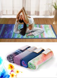 sporting mat Canada - Skidless Microfiber Yoga Mat Towel Silicon Brand New Non Slip Yoga Sport Fitness Exercise Pilates Blankets 183*65cm