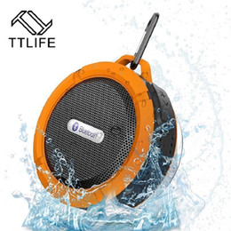 Discount wireless speakers for hi fi - Wholesale- TTLIFE Portable Wireless Bluetooth Speaker With Calls Handsfree and Suction Cup Waterproof Bluetooth Shower S