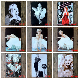 $enCountryForm.capitalKeyWord Canada - Sexy Lady of Marilyn Monroe Vintage Metal Tin Signs Painting Home Decor Wall Art Craft Sticker Bar 20x30cm