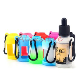 e juice case Canada - Silicone Skin For E Liquid Bottles Soft Pouch Box Protective Colorful Display Case Fit E Juice Bottle 30ML Silicon Rubber Sleeve Cover
