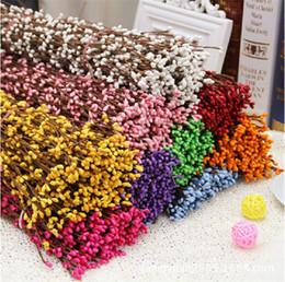 PiP beads wholesale online shopping - Hot sale Diy Wedding Garland Artificial Flower Head Ring Pip Berry flower Stem DIY Wreath Flower Bead Acceorry