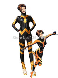 Costume De Super-héros Pvc Pas Cher-Marvel Comics The Avengers Wasp Superhero Costume Halloween Party Cosplay Zentai Suit