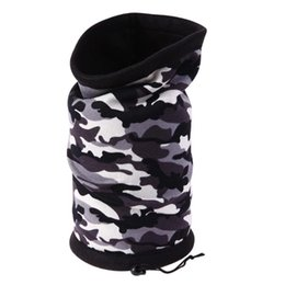Chinese  Wholesale- Polar fleece Warm Outdoor Scarf Cycling Face Mask Neck Protector Unisex Tube Hat Camouflage Fleece Warmer Bandanas Headwear manufacturers