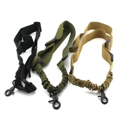 China 1pc Tactical 1 Single Point Rifle Gun Sling Strap System Airsoft one Point Gun Sling suppliers