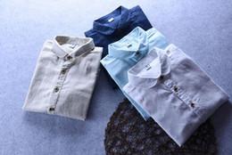 $enCountryForm.capitalKeyWord Canada - 2016 Fashion Souel solid Casual Shirts Soft Toyko Linen long sleeve shirts Spring Summer slim comfertable men's clothing mix order