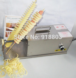 tornado fries cutter Canada - 3 in 1 Commercial Use 110v 220v Electric Hot Dog Twister Curly Fries Tornado Potato Cutter Slicer