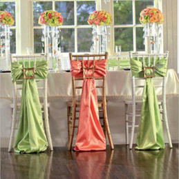 Red chaiR events online shopping - Gorgeous Sample Many Colors Chair Sashes For Wedding Formal Wed Event Party Decoration Chair Sash Wedding Ideas Stretch Satin