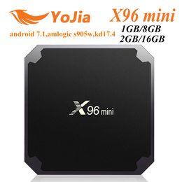 [Подлинный] X96 мини 7.1 для Android коробка TV встроенный S905W четырехъядерный 1 ГБ/8 ГБ 2 ГБ/16 ГБ ТВ-приставок Смарт ТВ