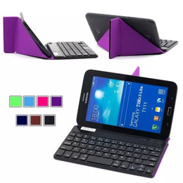 Wholesale Slim Transformers Wireless Bluetooth Keyboard Stand Case For Universal IOS ANDROID WINDOWS quot Tablet and Smartphone