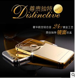 Iphone 5s Aluminum Casing Canada - 2015 Luxury Aluminum Ultra-thin Mirror Metal Bumper Case Clear PC Cover frame for iPhone 6 Plus 5S Samsung Galaxy S6 edge