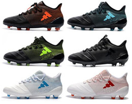 soccer series 2018 - 2018 Mens ACE X Tango 17.1 FG Soccer Shoes Thunderstorms series Men Soccer Cleats Outdoor Football Shoes Football Boots