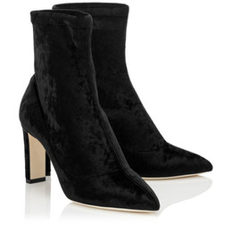 $enCountryForm.capitalKeyWord Canada - Italian-made LOUELLA Ankle Boots Suede Leather Women Stiletto Boots Lady High Heels Luxury Designer Sexy Booties Grey,Black