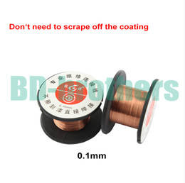Copper wire rolls online shopping - mm Copper Soldering Solder PPA Enamelled Reel Wire Line Roll Fly line Jump Wire