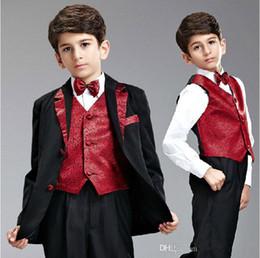 Man Suits Formal Wear Canada - 2015 The Best Selling Boy's Formal Occasion Suit Little Men Wedding Tuxedos Boy Formal Party Suits (Jacket+Pants+Vest+Tie)