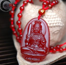 Carved Jade Red Pendants Canada - AAA natural emerald red jadeite jade pendant hand-carved good luck charm Zodiac kwanyin guanyin Patron saint pendant necklace