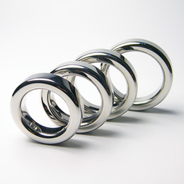 cockrings freeshipping NZ - Round metal cockrings, stainless steel penis ring penis ring for men adult games,sex toys for men,sex products free shipping on sale