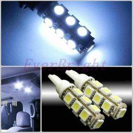 $enCountryForm.capitalKeyWord Australia - Wholesale Price 20pcs T10 13 SMD 5050 13 LED Car Side Light Bulb LED Wedge Lamps Auto LED Light
