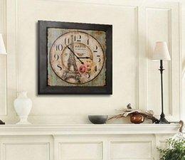 Ingrosso Orologi da parete antichi decorazione della casa soggiorno sala da pranzo Americano torre verde quadrato grande orologio da parete orologio da parete soggiorno