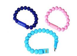 Câble de charge et de synchronisation pour téléphones intelligents 2 en 1 Perles Bracelet Design Vente en gros Livraison gratuite en Solde