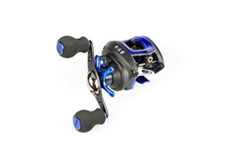 Fake Bait Canada - Free shipping 3 color options baitcasting reel 14 ball bearings carp fishing gear Left Right Hand bait casting fishing reel