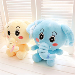 Discount valentines stuffed animals - Wholesale-2015 New Arrival 30cm Lovers Elephant Plush Toy Funny Cartoon Animal Doll Hobbies Stuffed Valentines Birthday