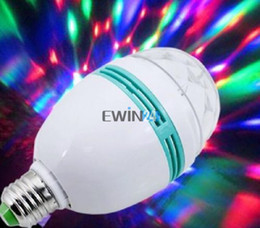Discount decorative spot lights - E27 3W Colorful Rotating Party Light RGB 3 LED Spot Light Bulb Lamp Torch Lighting for Chrismas Party Decoration free sh